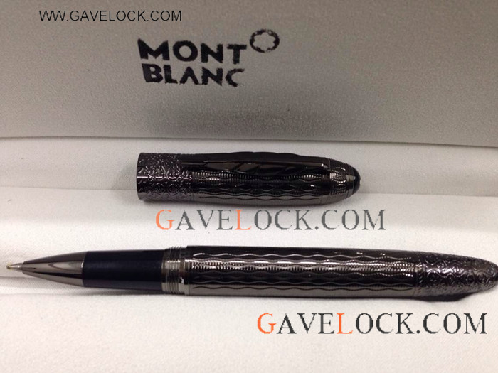 Fake Montblanc Pen-Daniel Defoe Rollerball All Black Pen- AAA Copy