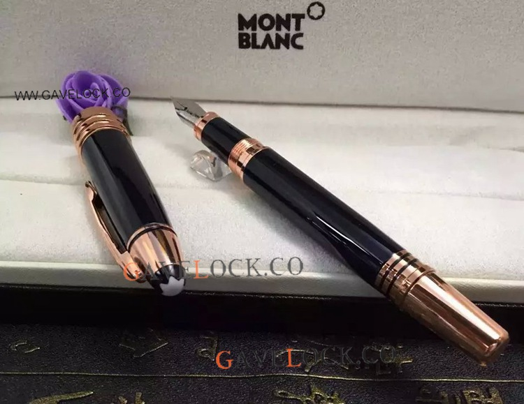 2019 New JFK Montblanc Fountain Pen Rose Gold Clip With Pen Box