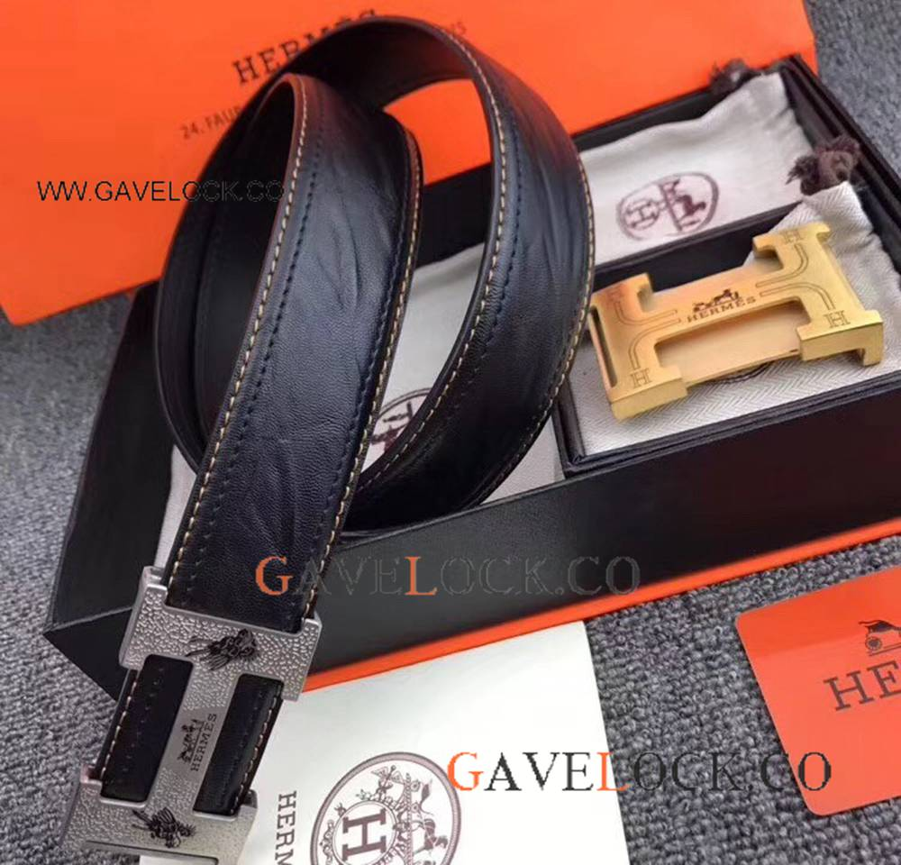 New Hermes Fashion Soft Belt With Silver Buckle