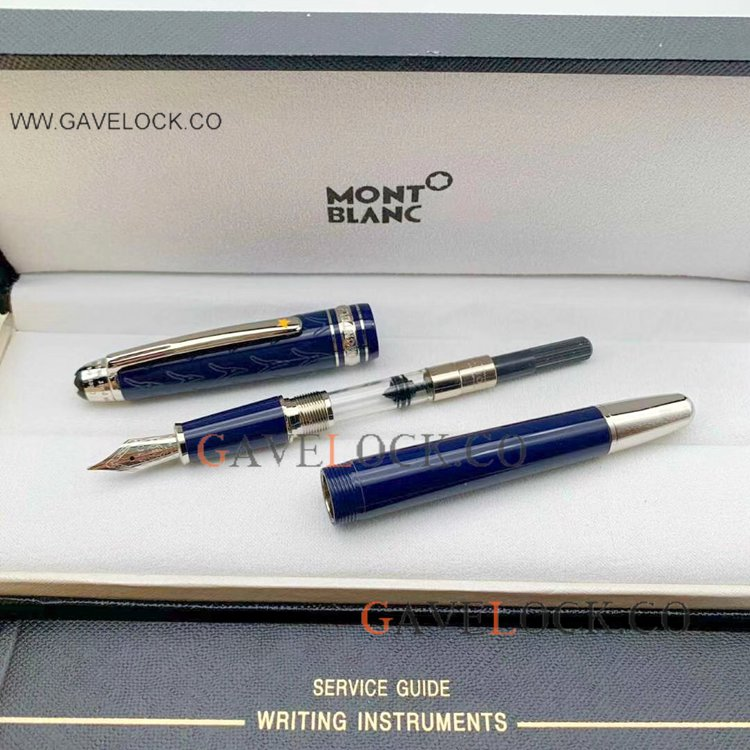 2020 NEW Montblanc Petit Prince 145 Fountain Pen -Blue&Silver