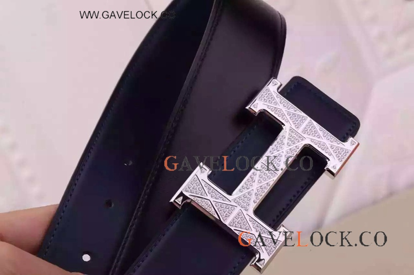 AAA Copy Hermes Mens Belts- Leather Belt - Diamond Hermes Belt Buckle