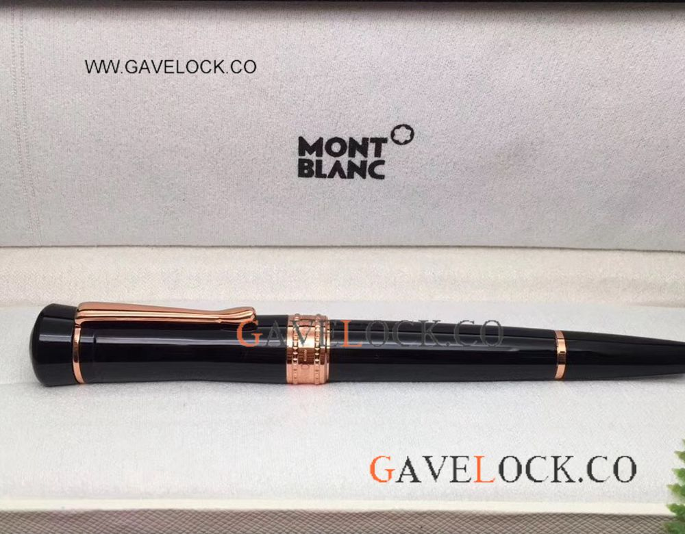 AAA Copy Mont Blanc Bonheur Rollerball Pen / Rose Gold And Black For Sale