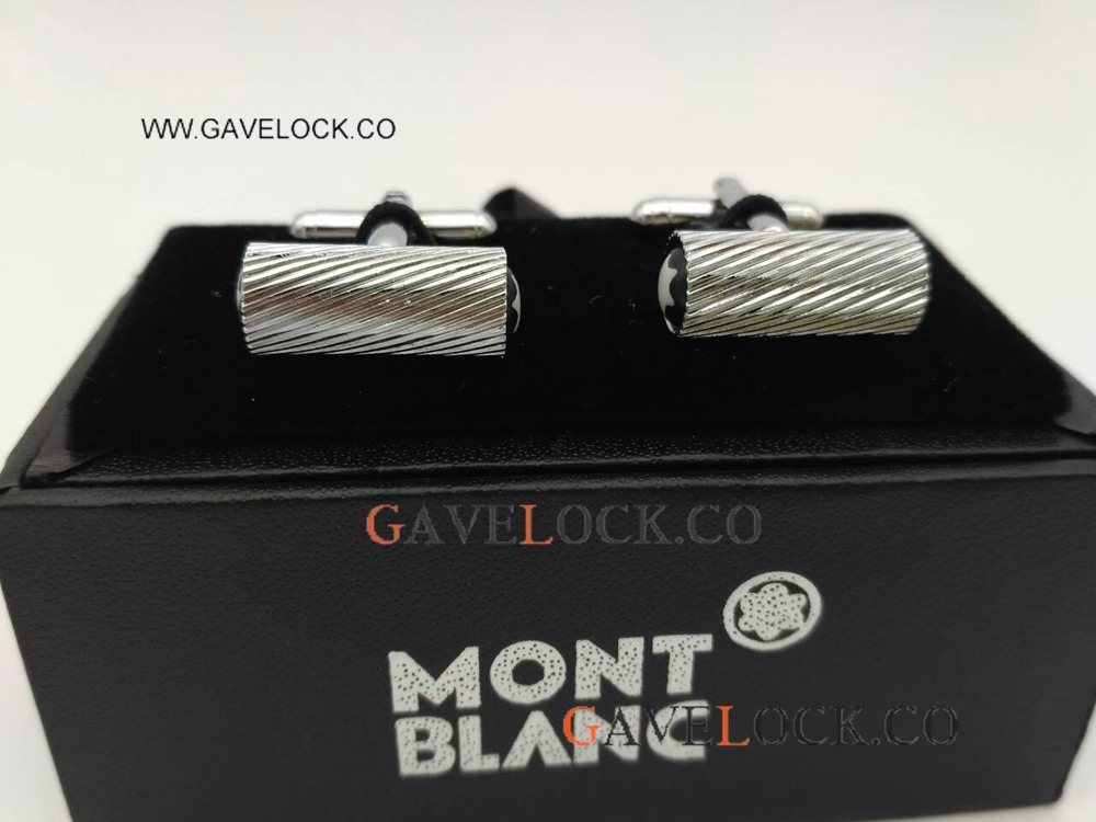 AAA Grade Replica Montblanc Cufflinks- Wavy Cufflinks SS Perfect Gift For Father's Day