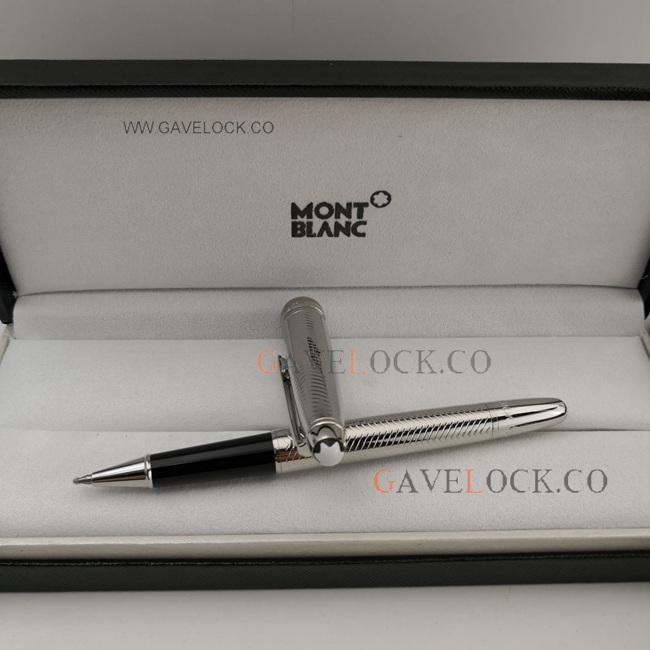 AAA Montblanc Meisterstuck Classic Silver Rollerball Pen