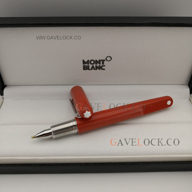 AAA Montblanc Red Resin M Marc Newson Rollerball Pen