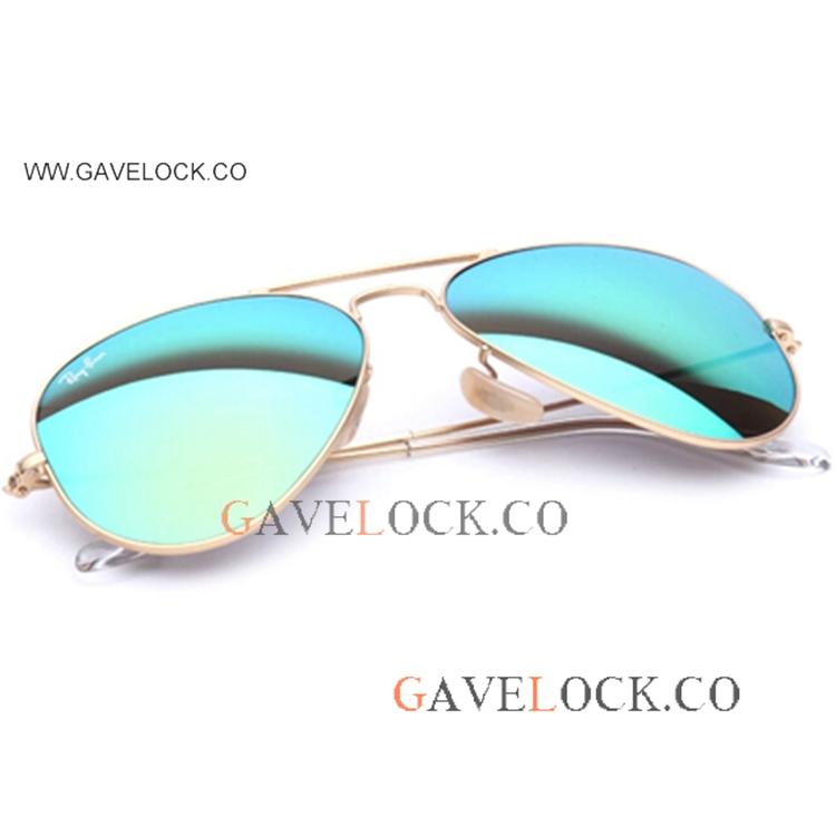 c70a9e216b0c AAA Ray Ban Replica Aviator Sunglasses Green Flash Lens