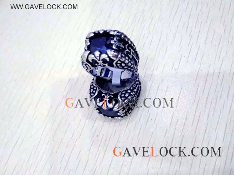 Beautiful Dark Blue Diamond Ring On Sale