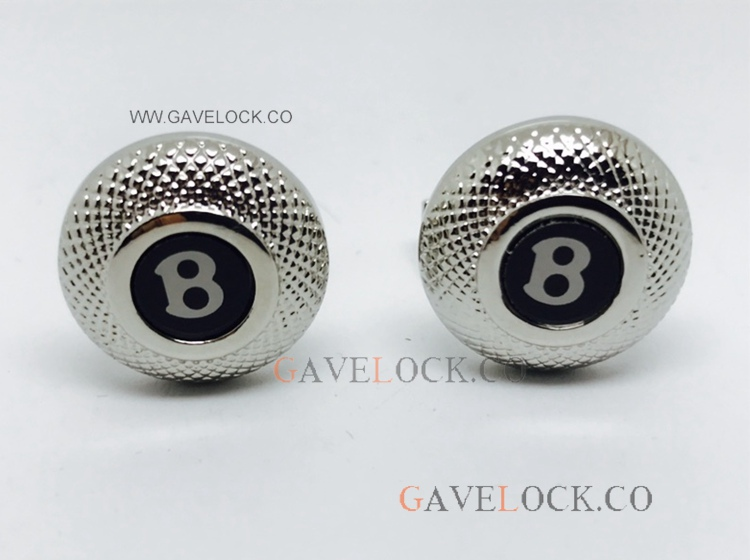 Bentley Stainless Steel & Black Replica Cufflinks - Fast Shipping
