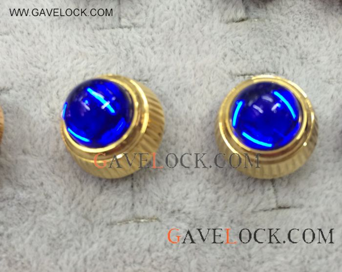 AAA Replica Cartier Cufflinks Yellow Gold & Blue Sapphire - Best Replica