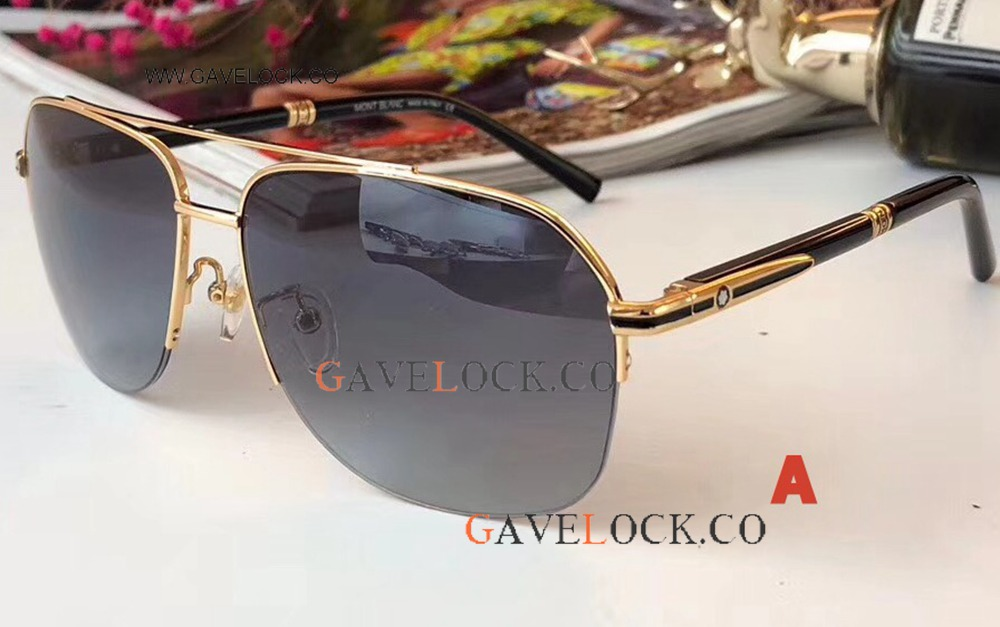 Clone Mont Blanc Sunglasses 2018 Gold and Black