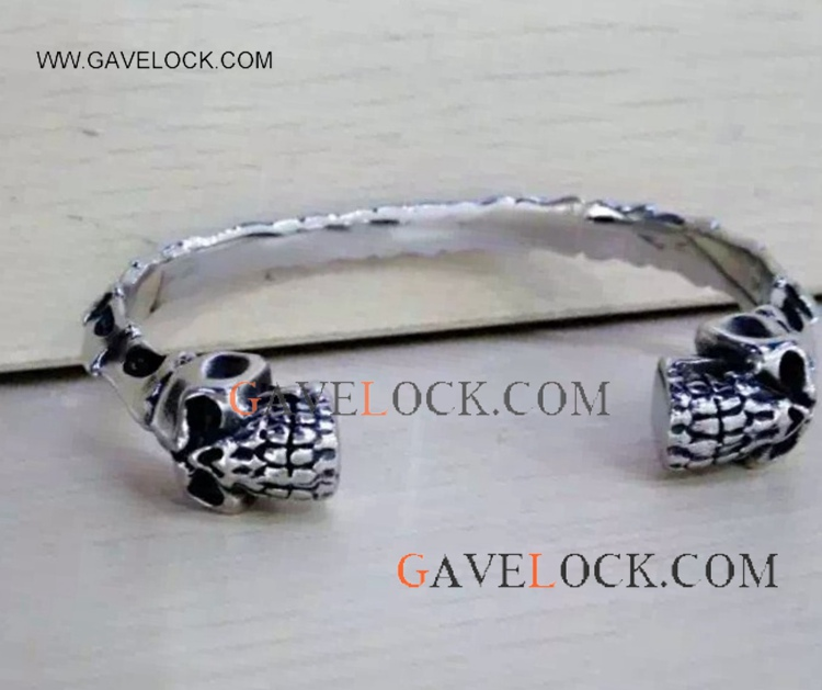 Cool Punk Stainless Steel Men Bangle