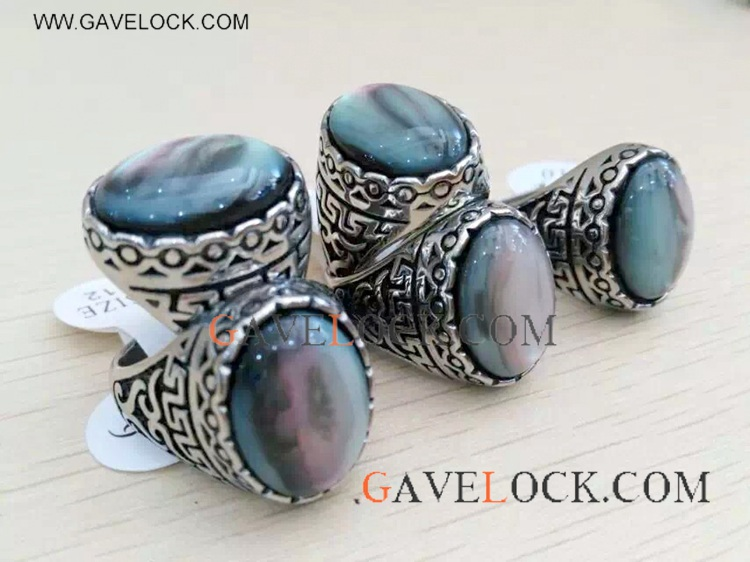 Cool Retro Style Grey Ring On Sale