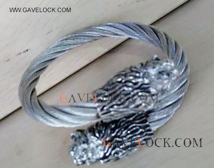 Cool Stainless Steel Punk Bangle For Man