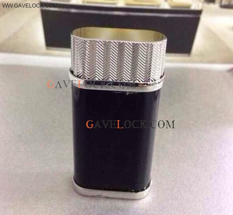 Cartier Replica Lighters Black /Silver AAA+ Cartier Lighter Refill Father's Day Gift