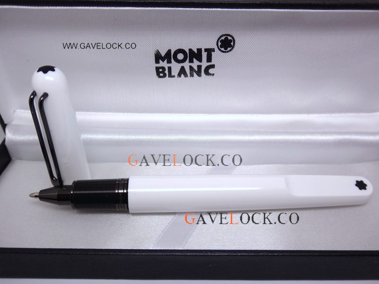 2019 New Style Mont Blanc Marc Newson White & Black Rollerball Pen - Mont Blanc M Marc Newson Montblanc Pen