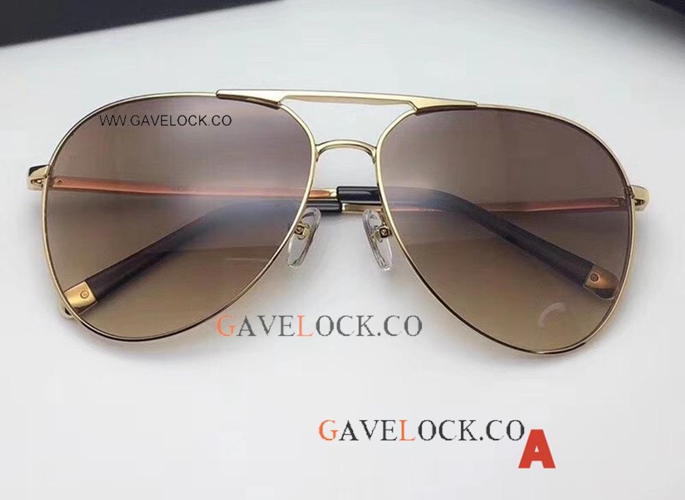 a34bd537863 Best Copy Cartier double-bar Gold   Black Glasses New Style Best ...