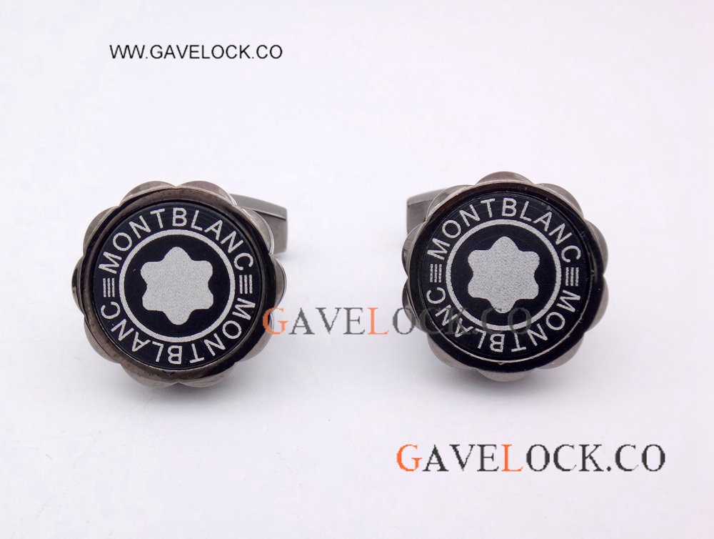 Copy Montblanc Black Flower Cufflinks - Buy Wholesale Father's Day Gift
