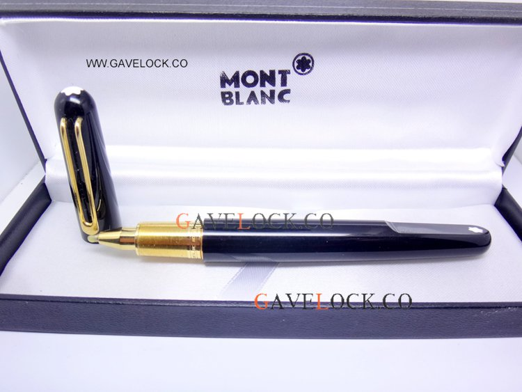 2019 New Style Mont Blanc M Marc Newson Rollerball Black & Gold Pen Mont blanc Discount Pens