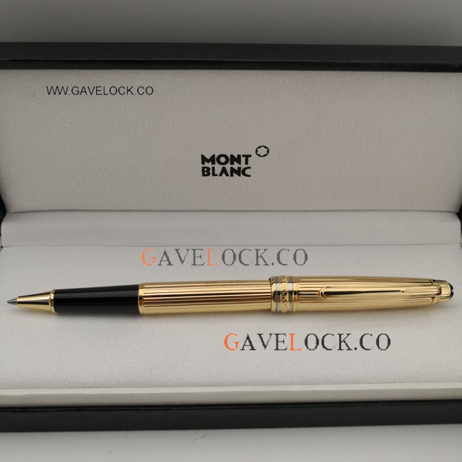 Copy Montblanc Meisterstuck Classique Gold Rollerball Pen