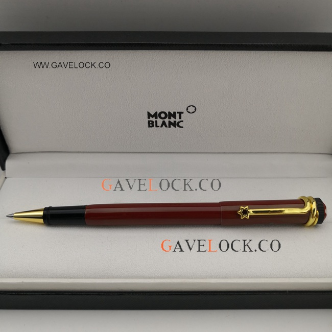 Copy Red&Gold Montblanc Heritage Collection Pen