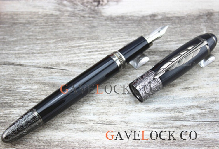 Daniel Defoe Series Black Pen Clip Fountain Pen Montblanc Daniel Defoe Ink