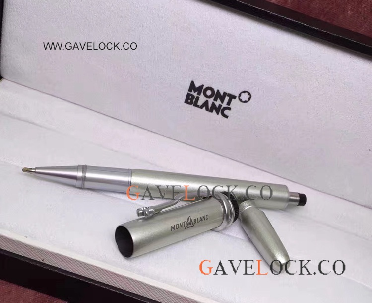 High Quality Mont blanc Heritage Collection Rouge et Noir Silver Rollerball Pen Refills