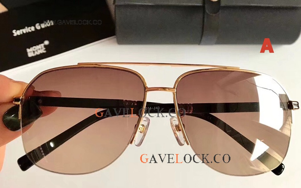 In Stock Replica Mont Blanc MB828 Sunglasses / Brown Gradient
