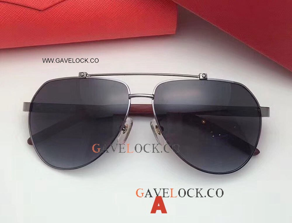 New Style Best Replica Cartier Sunglasses Red Wood Leg