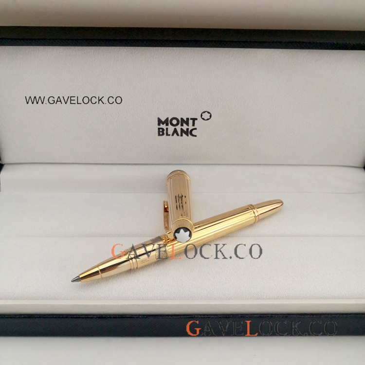 Mini Mont Blanc Meisterstuck Rollerball Pen - Yellow Gold Mini Pen