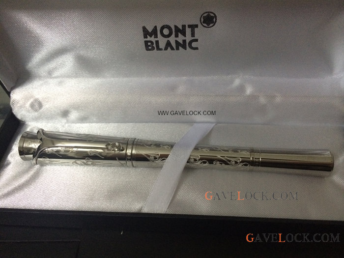 AAA Fake Mont Blanc Pens - Sliver Mont blanc Pen Princess Monaco SS Rollerball Pen