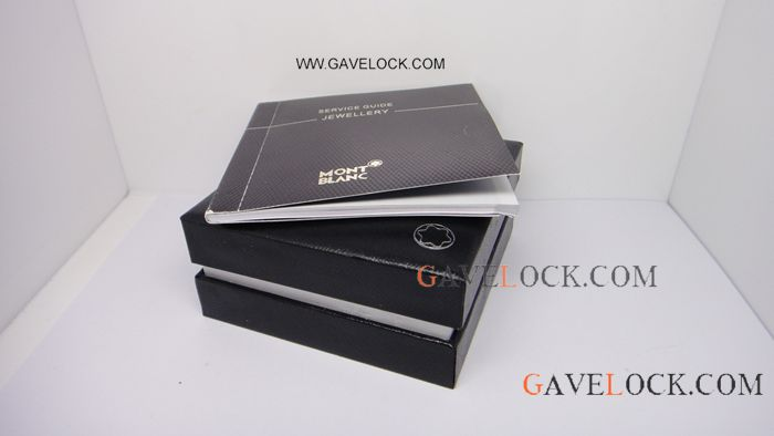 Deluxe Montblanc Cufflinks Box With Paper / Buy Replica