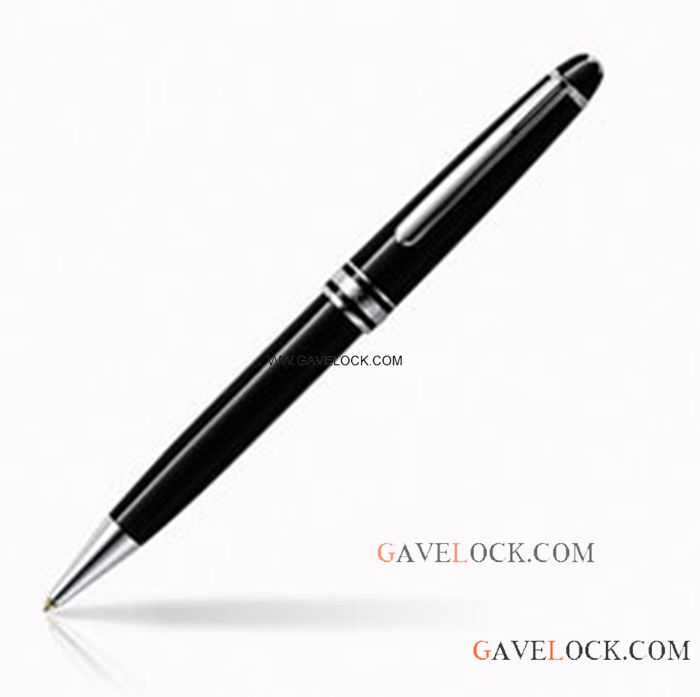 AAA Copy Montblanc Meisterstuck Ballpoint Black Pen 164 Slim