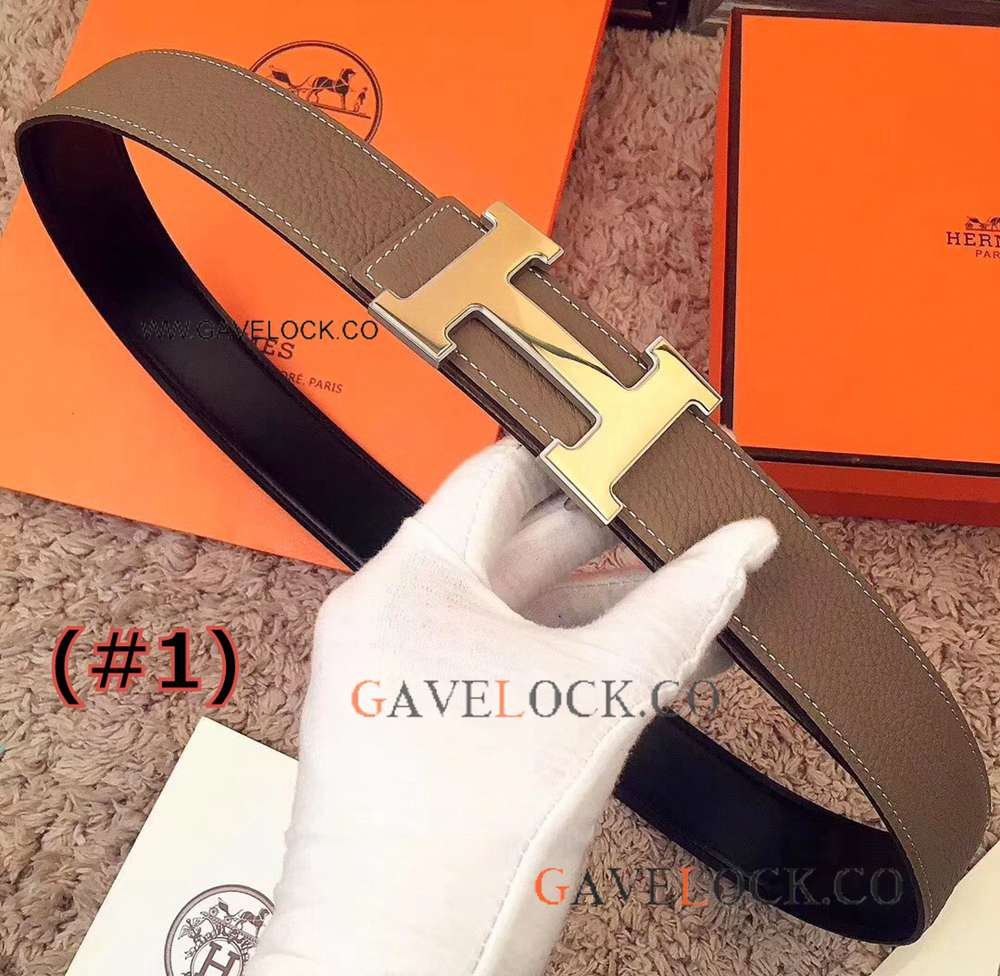 Multi-Color - 2018 Replica Hermes Mens Belt With Polished Buckle