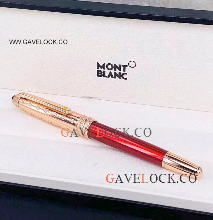 New! MontBlanc Petit Prince Rollerball Pen Rose Gold Pen