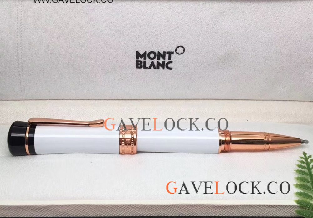 New Replica Montblanc Bonheur Rollerball Pen For Sale Rose Gold Clip
