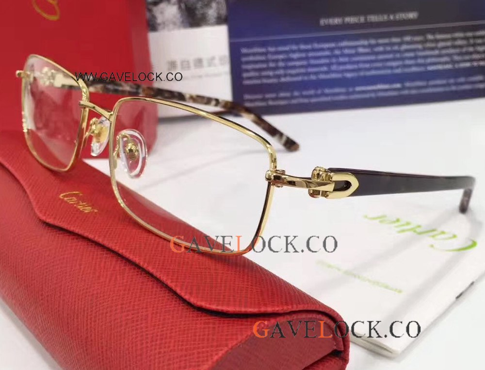 Fashionable Cartier Glasses Gold Frame For Men Or Lady