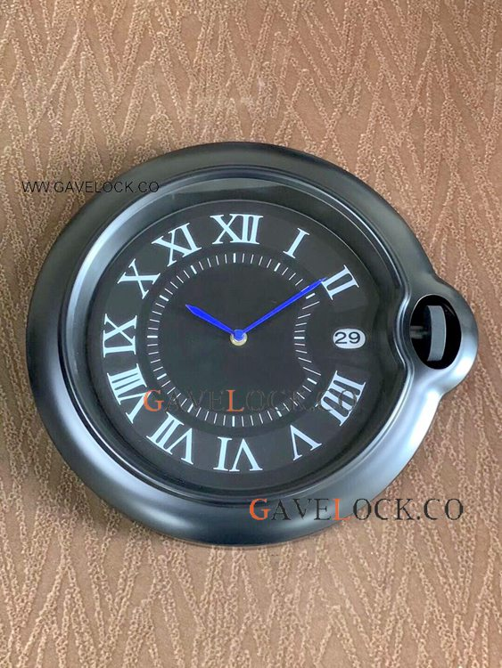 New Cartier Ballon Bleu De All Black Wall Clock - Wholesale