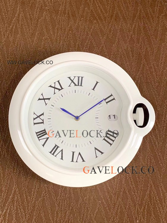 New Cartier Ballon Bleu White Wall Clock - AAA Quality