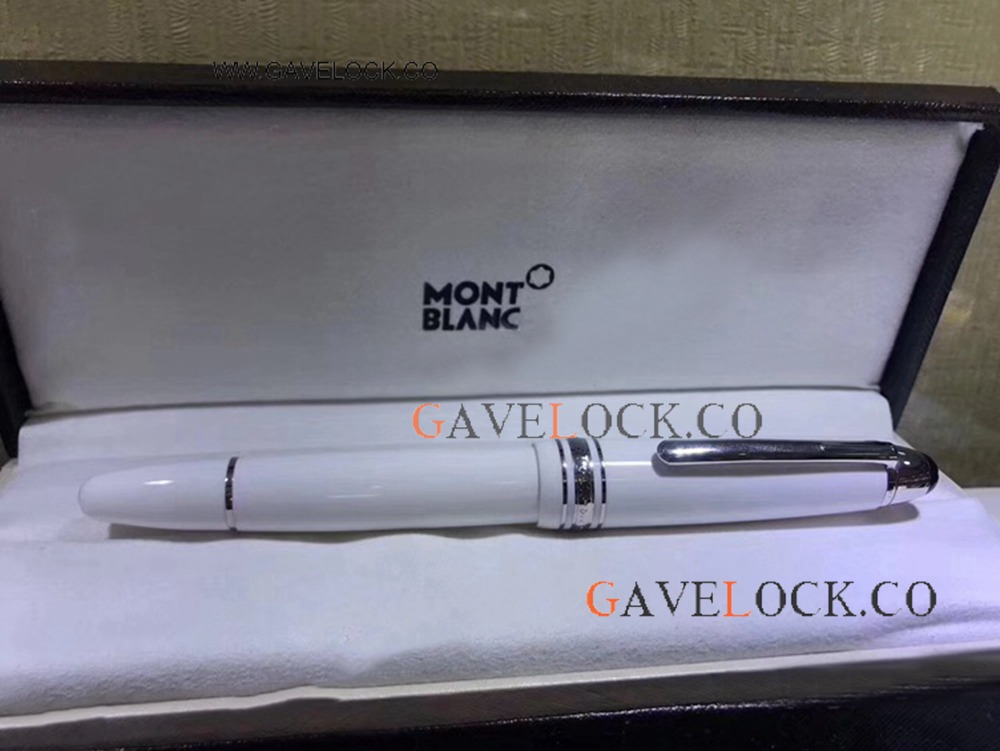 2019 New Style Mont Blanc Meisterstuck LeGrand Rollerball Pen XL Size White Resin