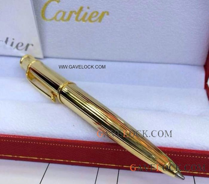 Replica Cartier Panthere Ballpoint Pen Yellow Gold Cartier Diabolo Ballpoint Pen