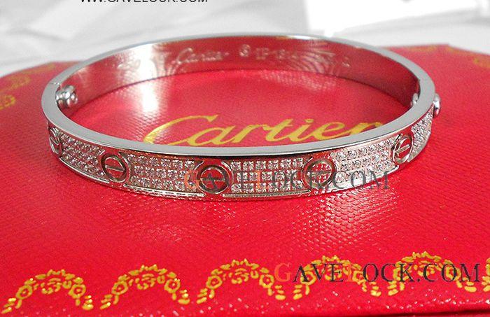 Cartier Love Bracelet Sliver Replica Diamond Jewelry Cartier Love