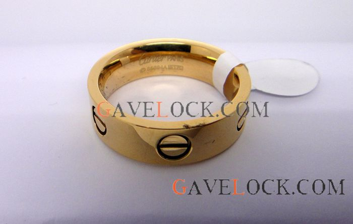 Copy Cartier Love Ring / Yellow Gold Cartier Ring Replica/ Free Shipping