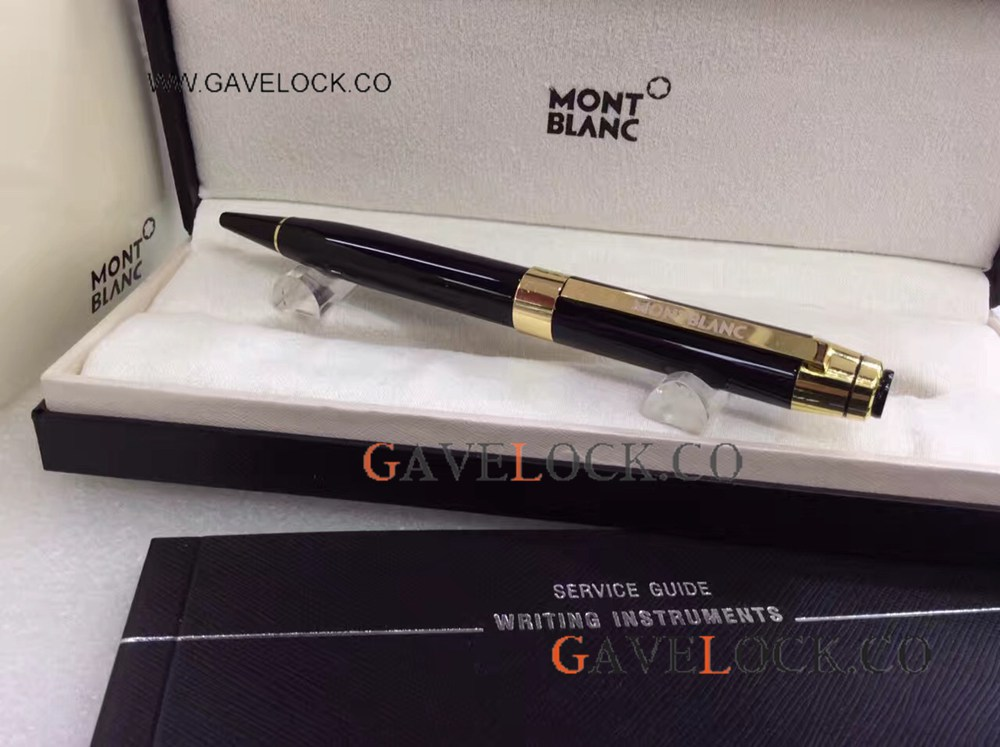 Replica Mont Blanc Limited Edition Black Resin Ballpoint Pen Buy AAA Quality