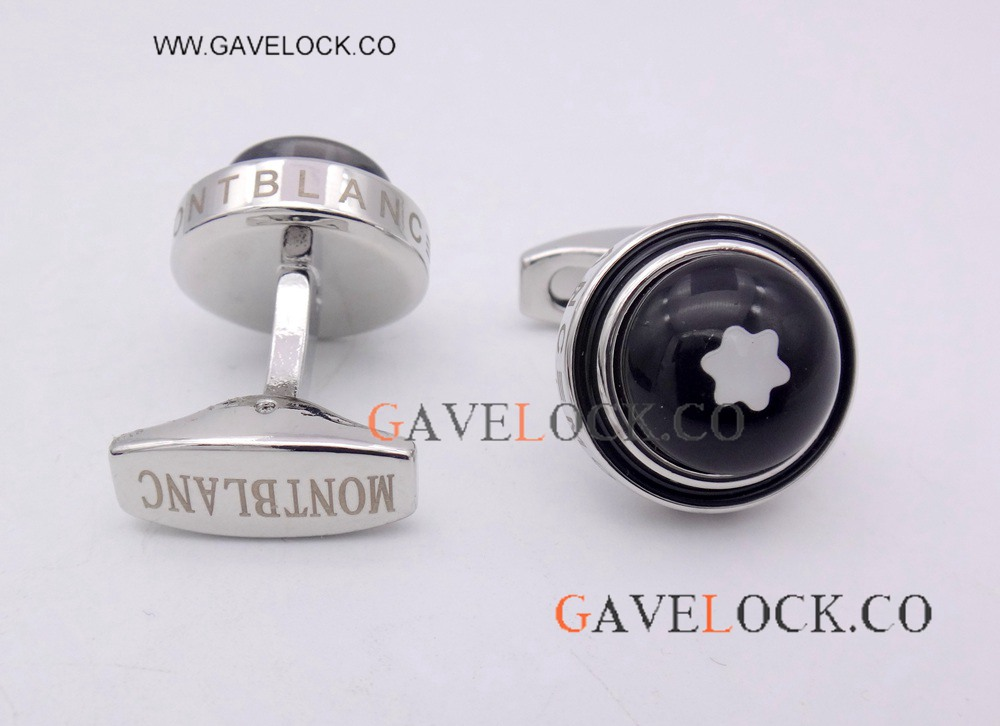 Replica Mont blanc Silver Cufflinks Starwalker Mens Father's Day Gift