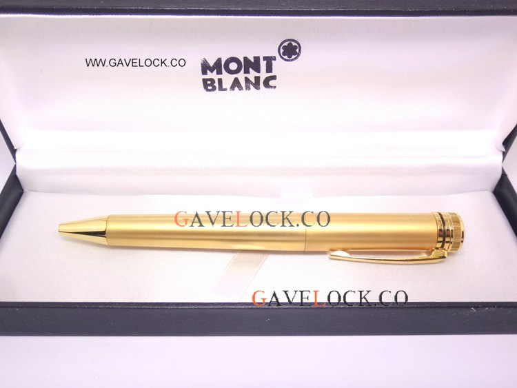 2019 New Style Mont Blanc Special Edition Heritage Collection Gold Ballpoint Pen - AAA Grade Montblanc Pen Fake