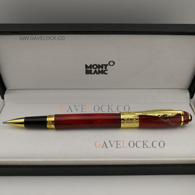 New Replica MontBlanc Daniel Defoe Red Rollerball Pen
