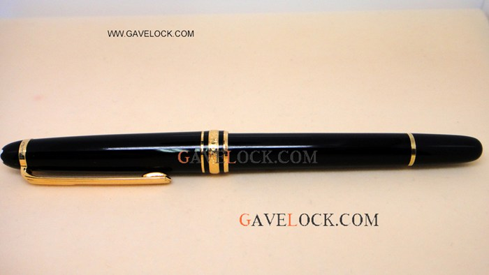 Copy Montblanc Meisterstuck Classique Black&Gold Rollerball Pen