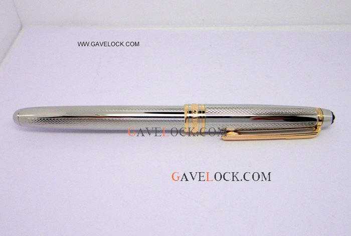 Copy AAA Heavy Silver Montblanc Meisterstuck Rollerball Pen Gold Montblanc Replica Pen