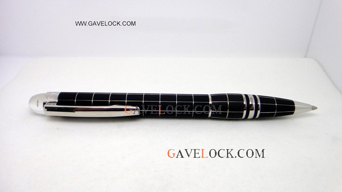 Copy Mont Blanc Starwalker Metal Rubber Ballpoint Pen - Gavelock Wholesale
