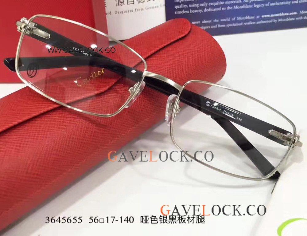 d286475e085 Super AAA Copy Cartier Black Frame Eyeglasses - Simple Style
